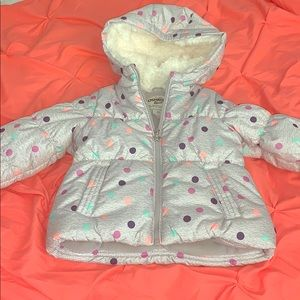 Toddler Girls Polka Dot Coat!